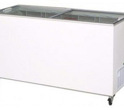 BROMIC CF0500FTFG 491L Flat Glass Lids Freezer