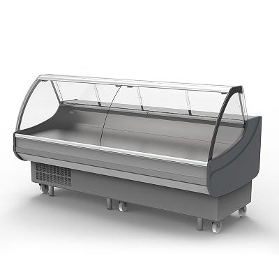 BROMIC DD0250CG Curved Glass Deli Display