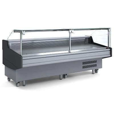 BROMIC DD0300SG Square Deli Glass Display