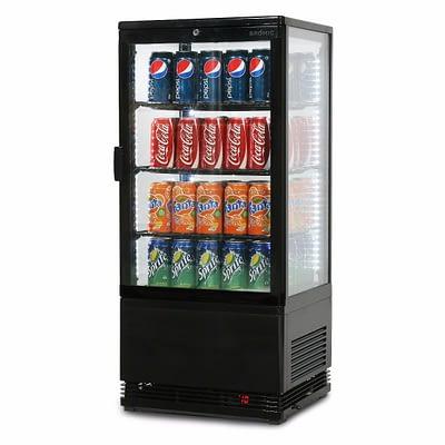 BROMIC CT0080G4B 78L LED Countertop Beverage Fridge Flat Glass
