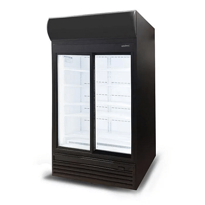 BROMIC GM0980LS 945L Upright Display Fridge with Lightbox Sliding Glass Door