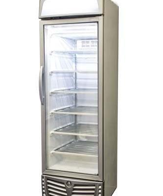 BROMIC UF0440LS LED ECO 440L Static - Fan Silver Single Door Display Freezer