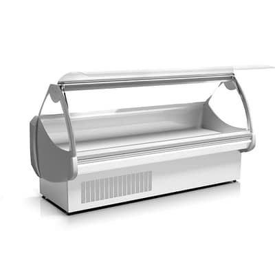 Delicatessen Displays Curved Square Glass Display Refrigerated