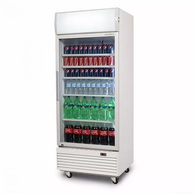 BROMIC GM0660LW 660L Upright Display Fridge with Lightbox (White) Flat Glass Door